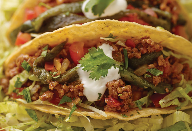 southwestern veal taco