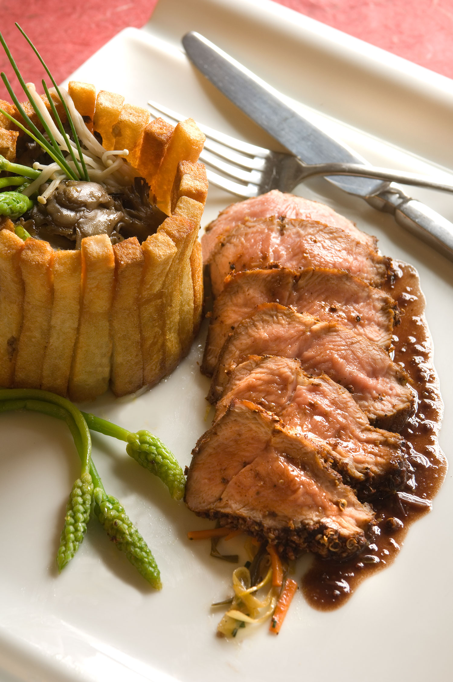 pastrami_flat_iron_steaks_with_fancy_fries_and_warm_miatake_and_asparagus_salad.jpg