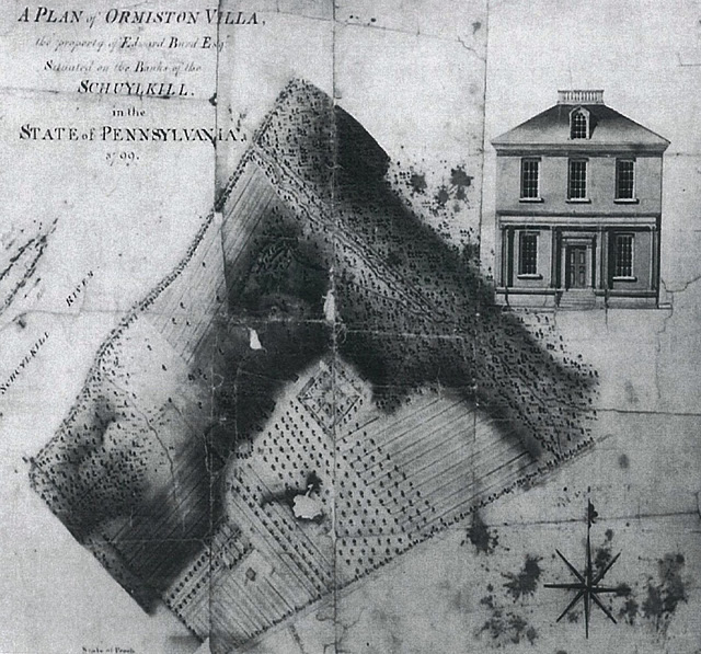 1799 Survey plan of Ormiston prepared for Edward Burd