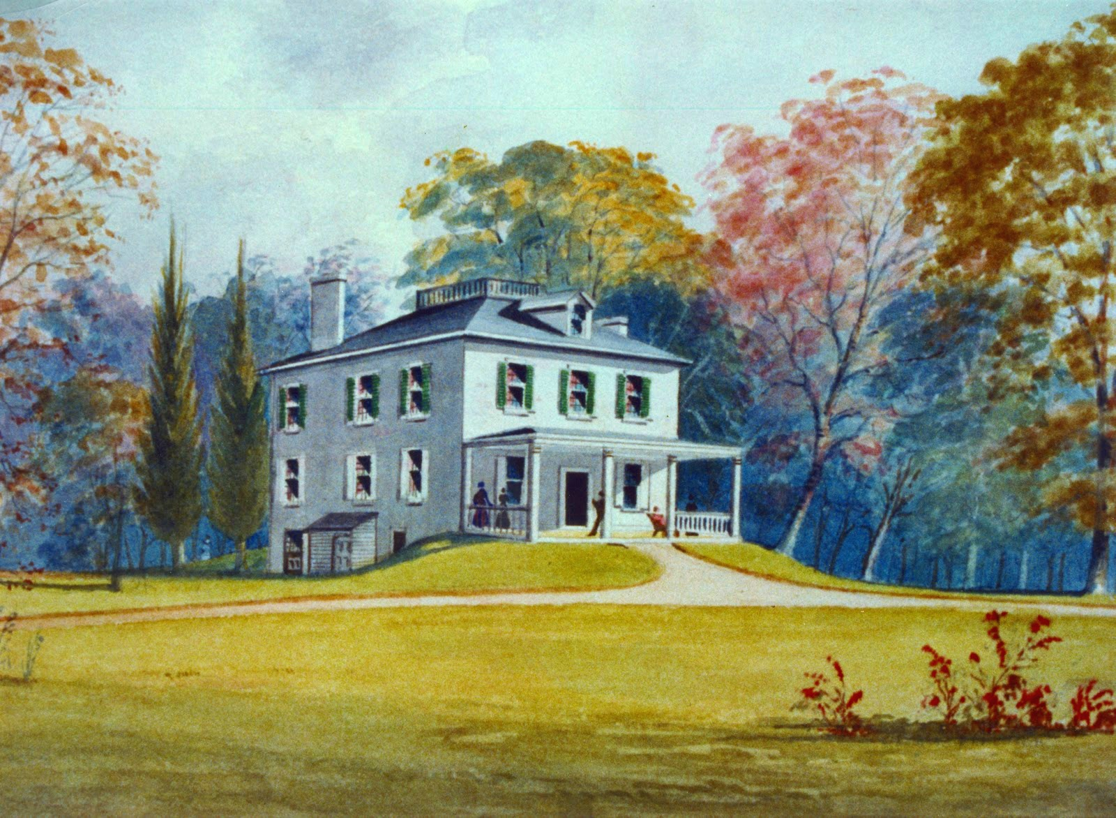 Ormiston Mansion Watercolor