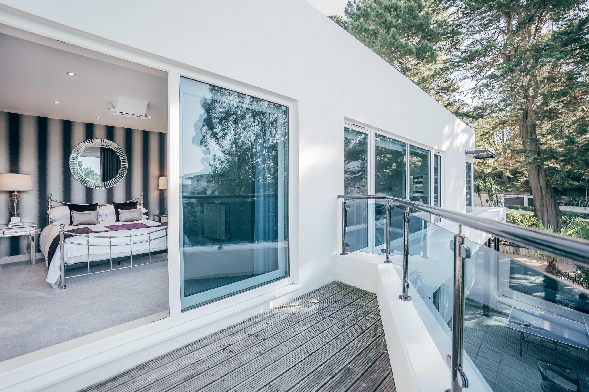 Sunny bedroom terrace