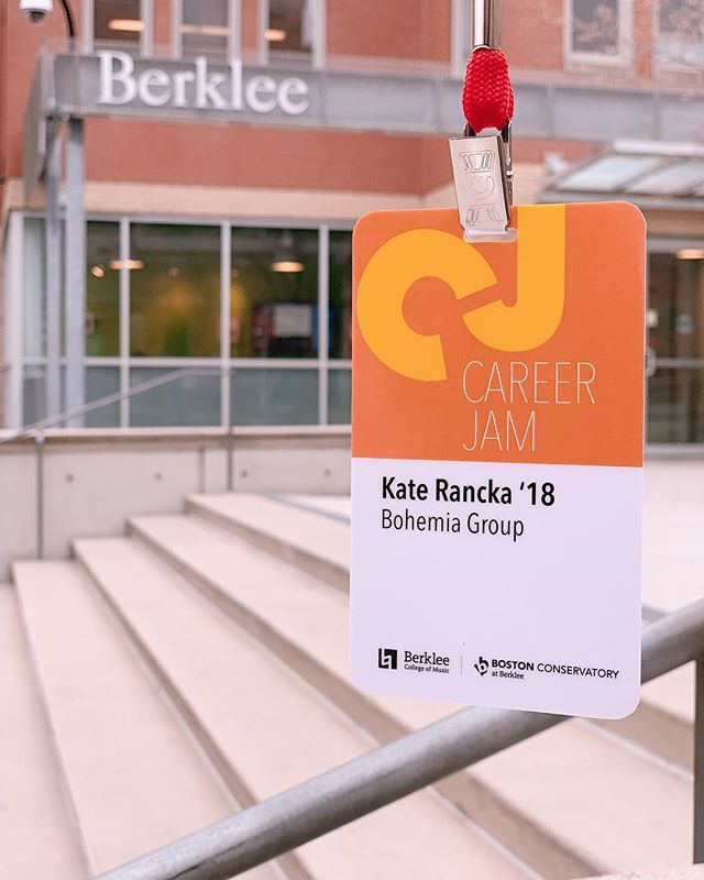First visit back to campus as an alum was a success. Thank you @berkleecollege & @berkleecareercenter for hosting us! #CareerJam2019 🎓