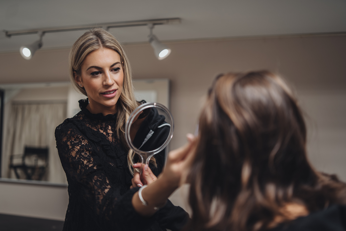 Kelsey Oenick, stylist for Monika Dixon Public Relations, tried out Microblading at GLAMD in River North.