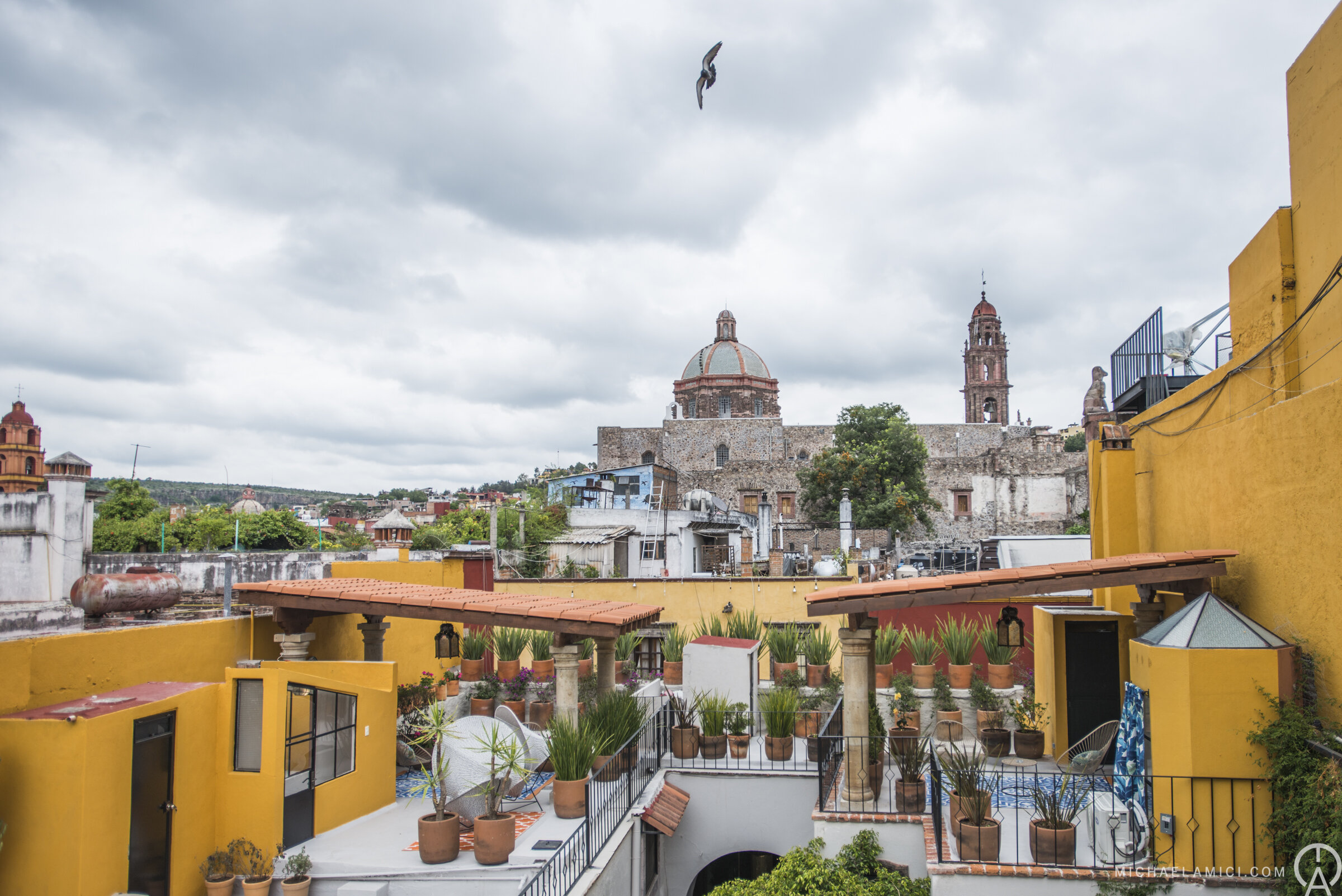 Rooftop views from  Ki'bok Coffee  overlooking San Miguel de Allende