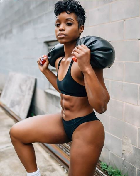 """NO PRETTY WORKOUTS - And she means it. D. Nicole is all about heavy lifting, core strength, HITT, and strength and conditioning. Be prepared to give it your all following her fitness guides. """"Real work. Real Sweat. Real pain. Real results.""""Follow @msnicolefit here."""
