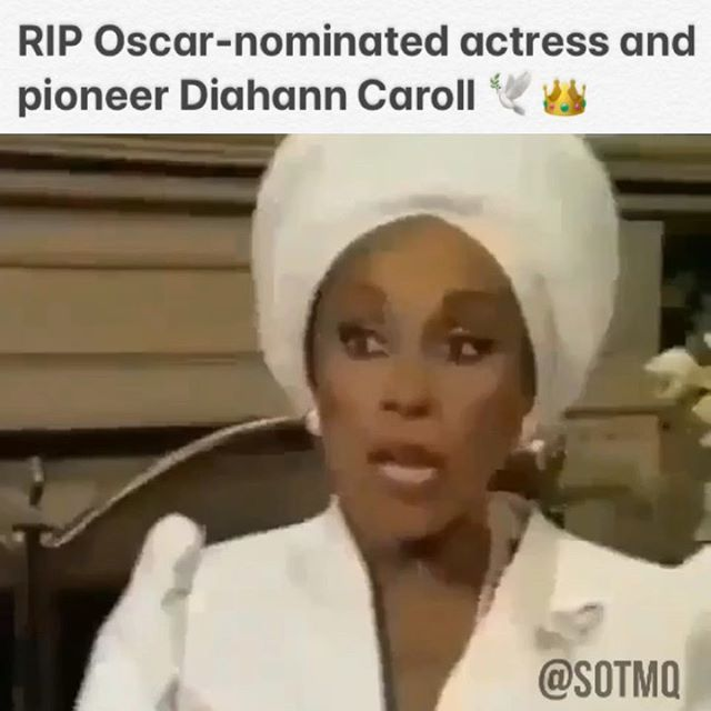 The first Black woman to star in her own primetime network series in a non-servant/maid role. Oscar nominee. Tony and Golden Globe Award winner. Trailblazer. Pioneer. Icon. 🕊#RIP Queen 💔 • 🖥 VISIT SOTMQ.COM     LINK IN BIO #SOTMQ • 👍🏾 LIKE us on Facebook: @ SOTMQofficial • FOLLOW, SHARE, TAG a friend • • #actress #movies #tv #television #icon #dynasty #diahanncarroll #hollywood #legend