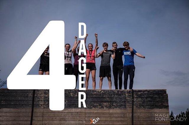 Rampa vår er 4 meter høy, og det minner oss på at det er 4 dager igjen til X-Run OCR i Stavanger, søndag går familieløpet. Meld dere på www.xrunocr.no