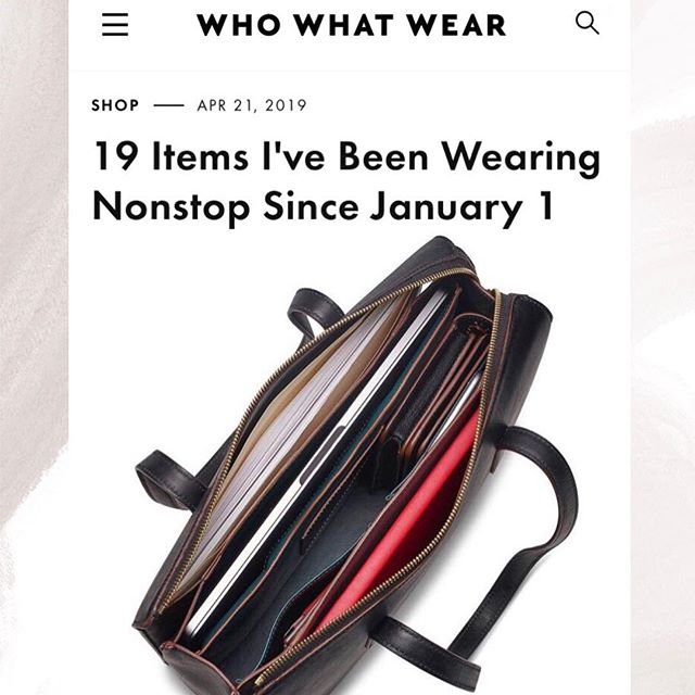 Writer @nickliest makes a case for investing in pieces you can wear on repeat and calls the @creaghbk workbag her lifesaver in this piece for @whowhatwear ✨ Link in bio to read (and shop) the full story.