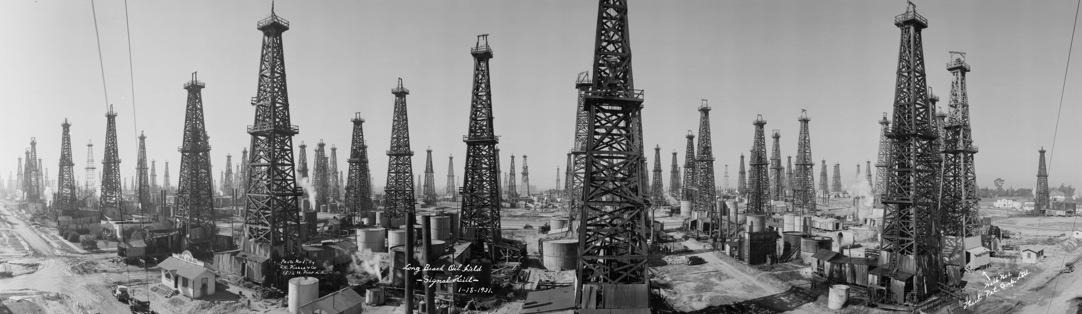 Signal Hill Oil Field, 1931.  Huntington Digital Library .
