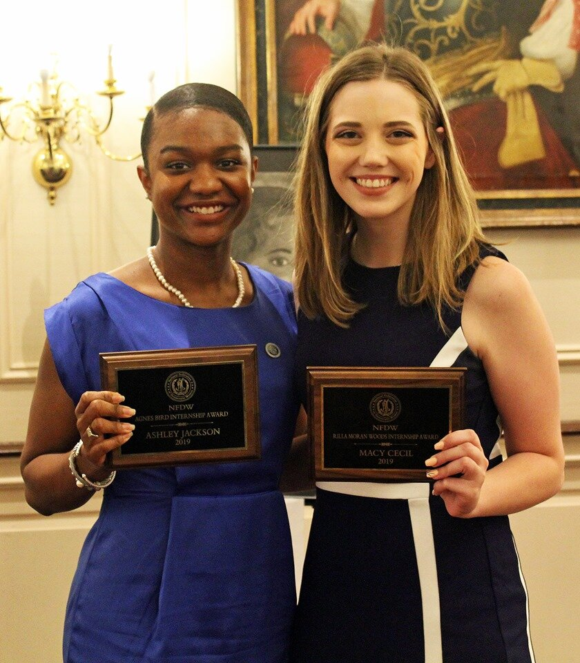 Ashley Jackson and Macy Cecil were the 2019 Internship Award Recipients.
