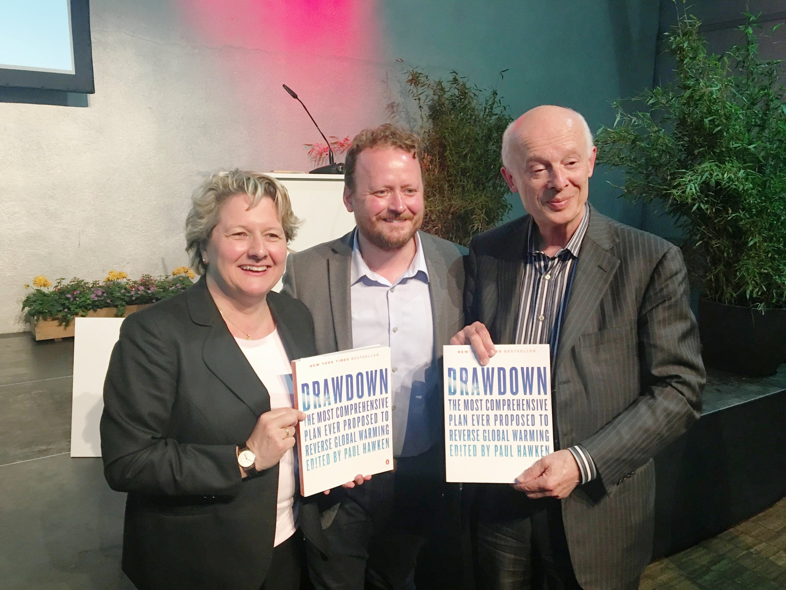 @ launch of Drawdown Europe with Svenja Schulze, German Federal Minister for the Environment, and Prof. Dr. h.c. Hans Joachim Schellnhuber, Director of the Potsdam Institute for Climate Impact.