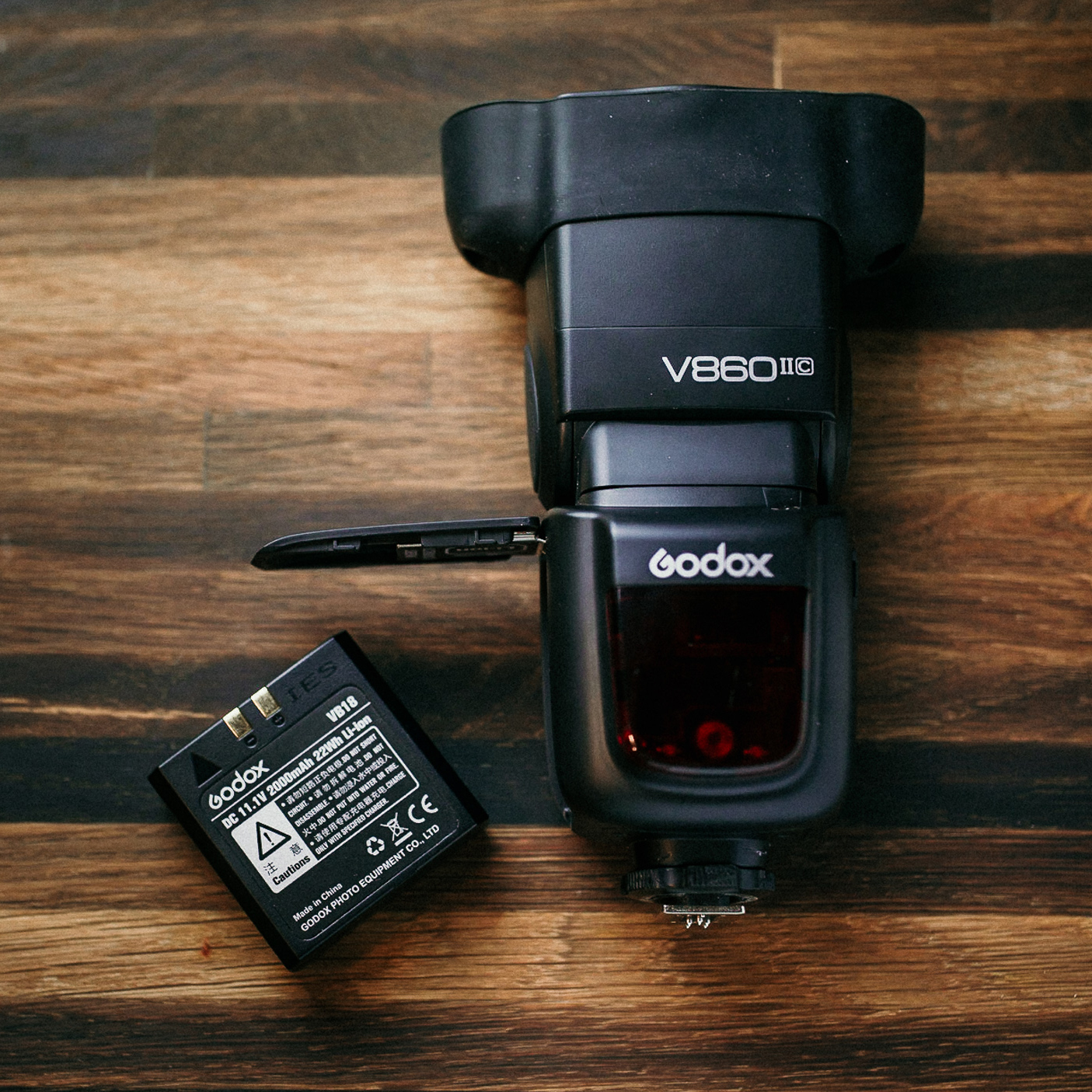Godox V860 II - Every photographer needs a speedlight. The Godox V860 II comes in most camera mounts and has some specific advantages over other flashes on the market:> Li-Ion battery lasts significantly longer than AA's. Only worry about charging one battery vs four!> Built-in transceiver allows you to control other Godox/Flashpoint units while using on-camera, even the larger AD200 and AD600.Flashpoint Equivalent: Flashpoint Zoom Li-ion R2 TTL