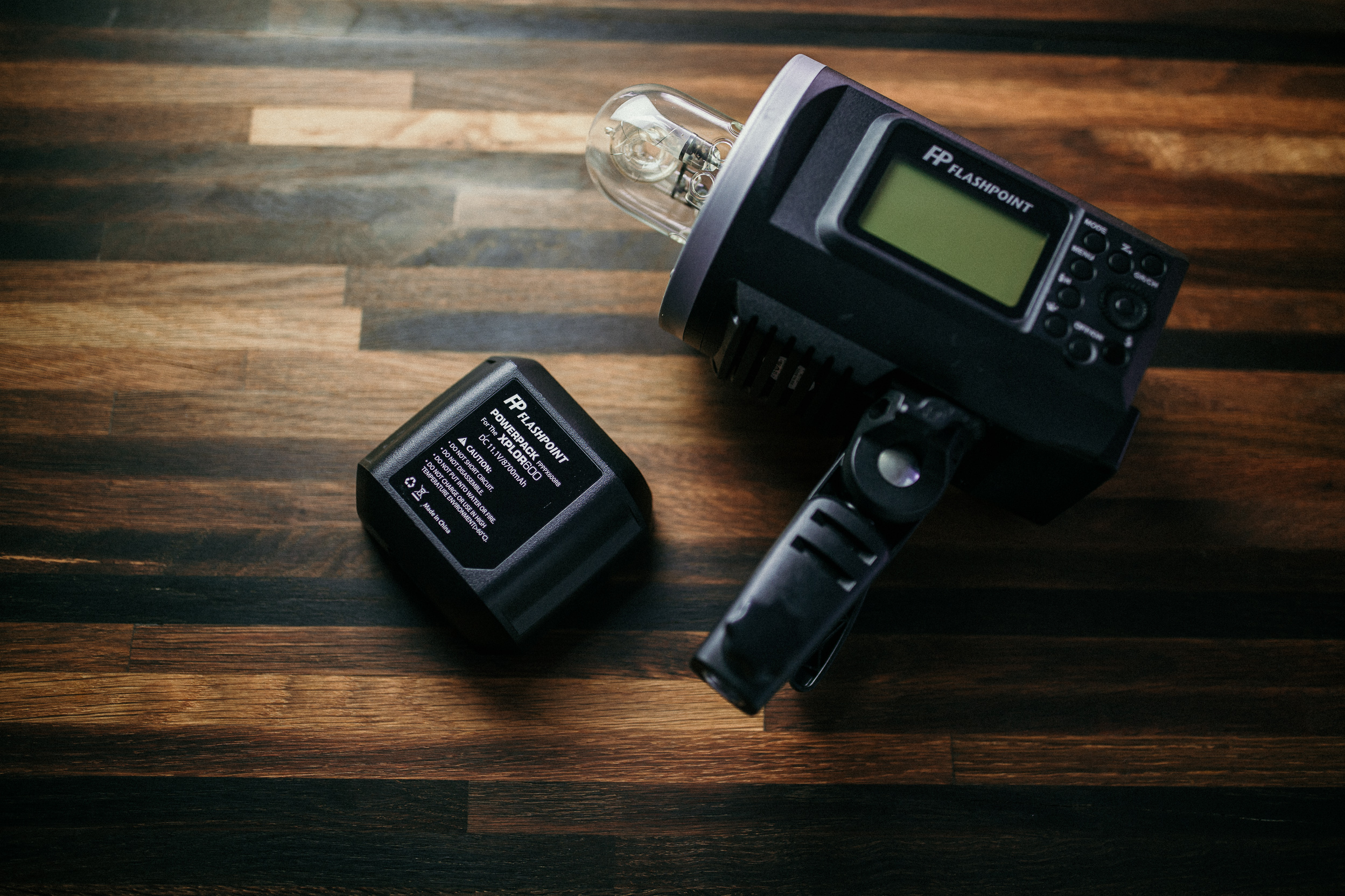 The AD600 is also battery powered, making it convenient to take on location.