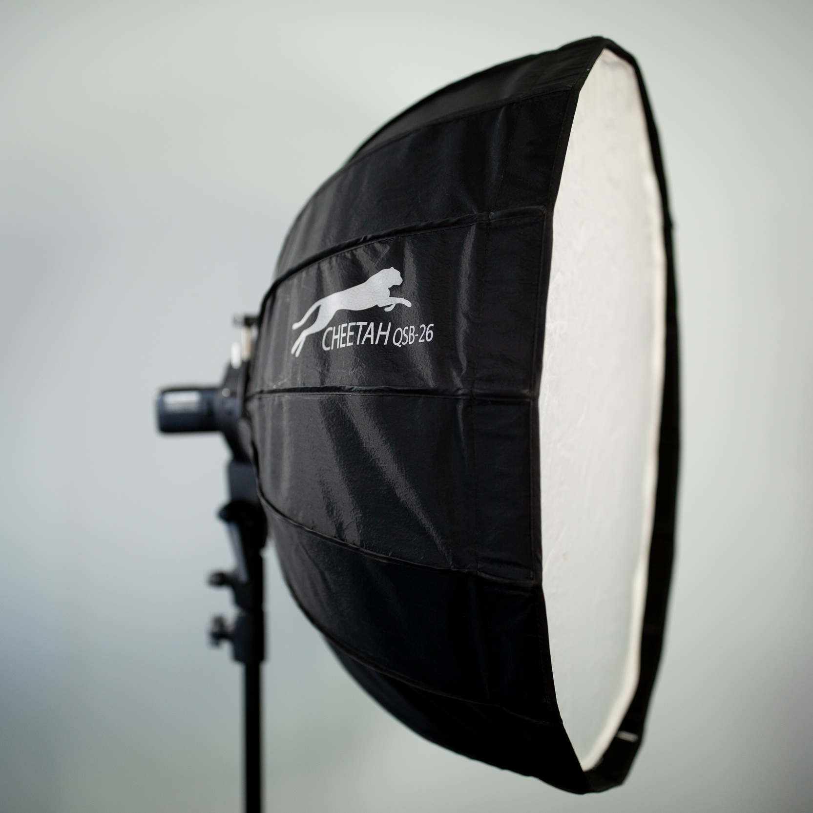 "Cheetah SoupBowl 26"" - The ""Soup Bowl"" is an affordable and most importantly, durable softbox from Cheetah.> Includes a grid and inner baffle, which you typically have to purchase separate with other soft boxes.> Available in every single mounting style, including Bowens!"
