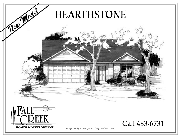 Hearthstone I - 1,343 sq. ft.   3 bed   2 bath