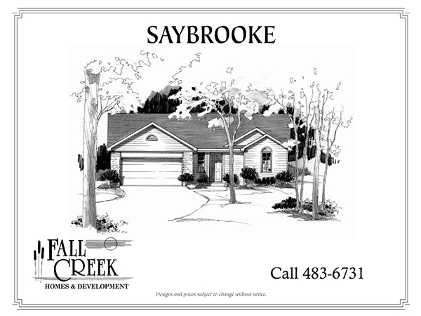 Saybrooke - 1,222 sq. ft.   3 bed   2 bath