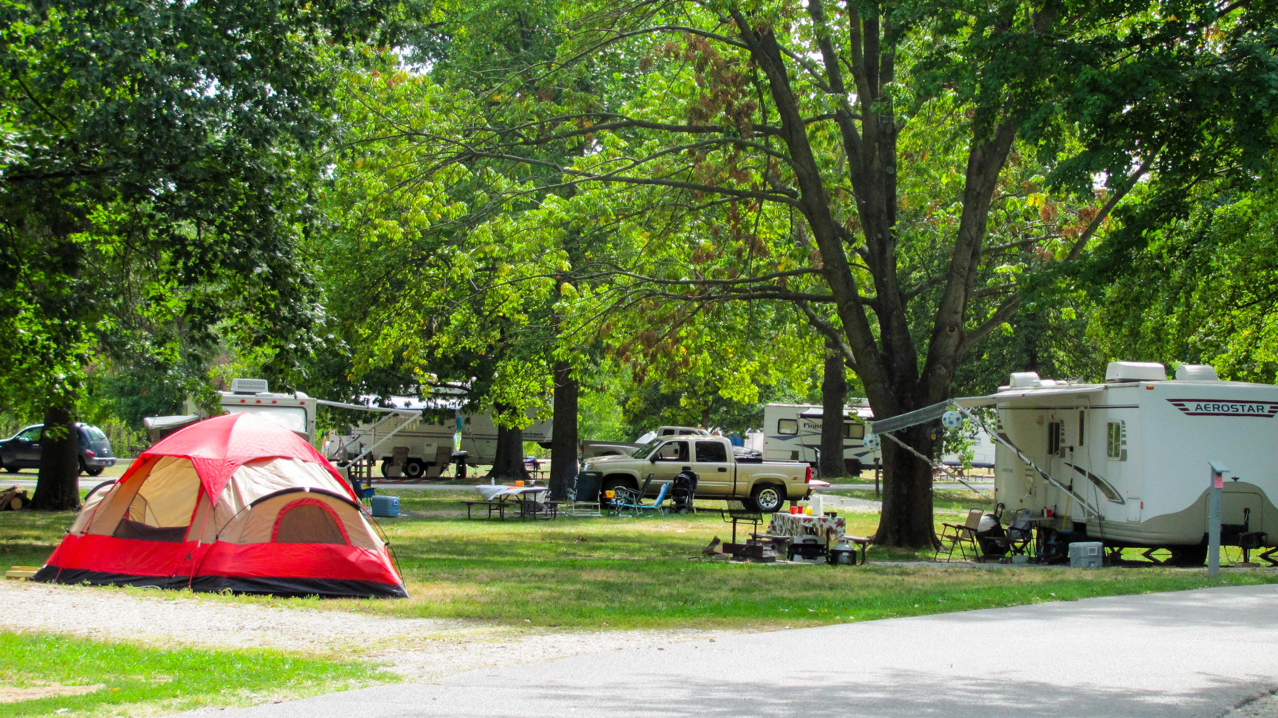The campgrounds