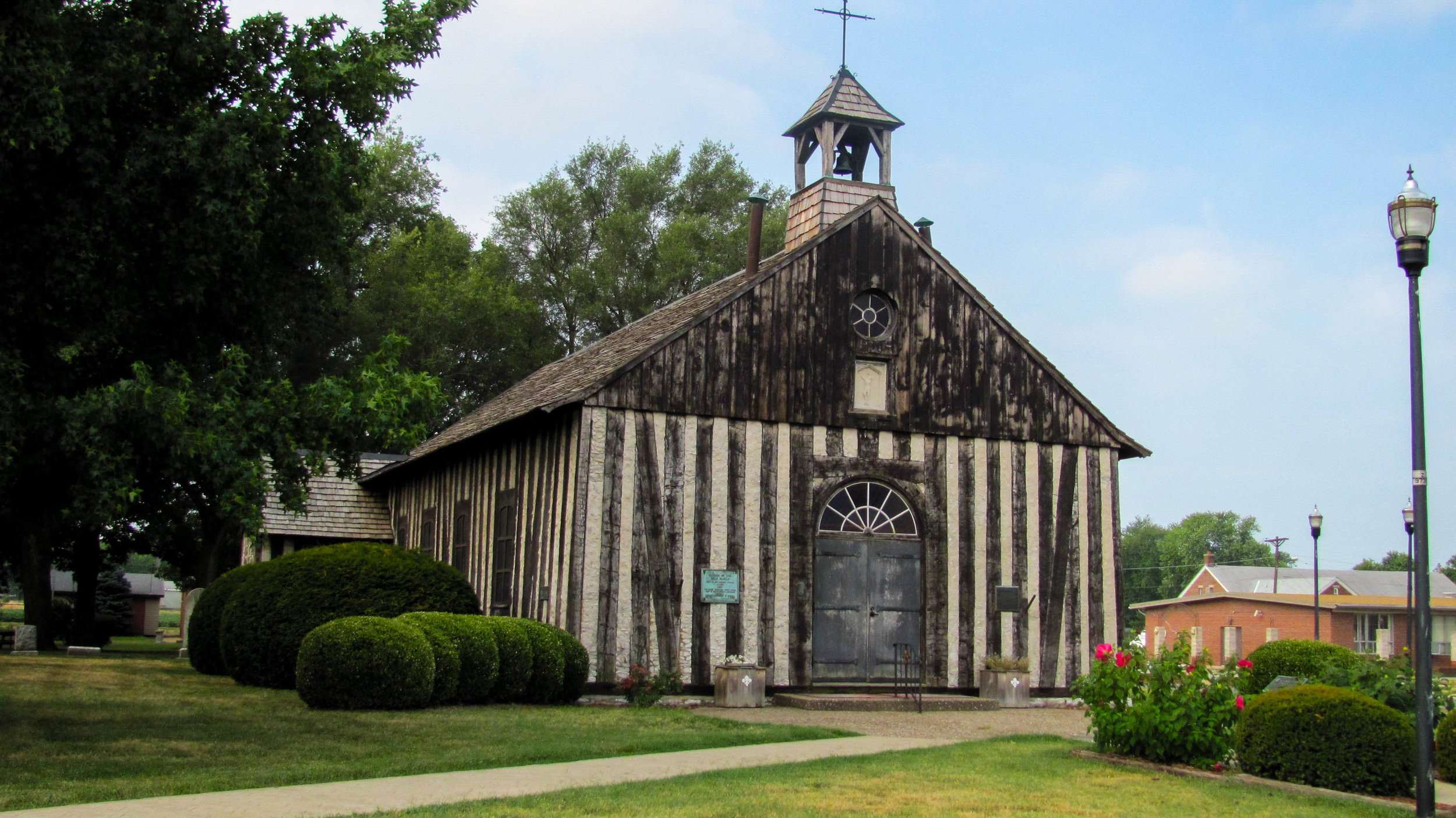 The Holy Family Log Church in Cahokia