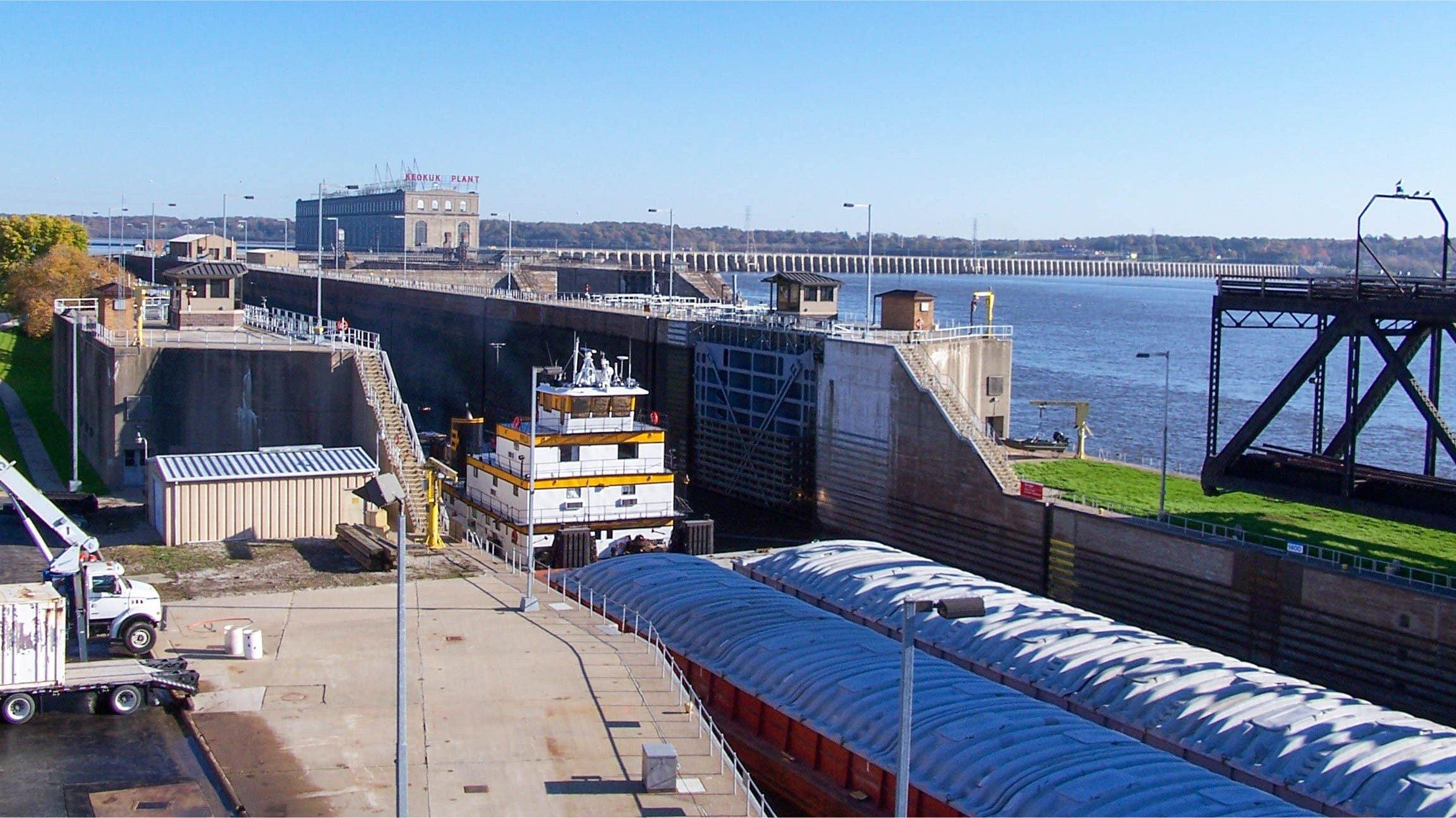 Lock and Dam #19 in Keokuk, Iowa