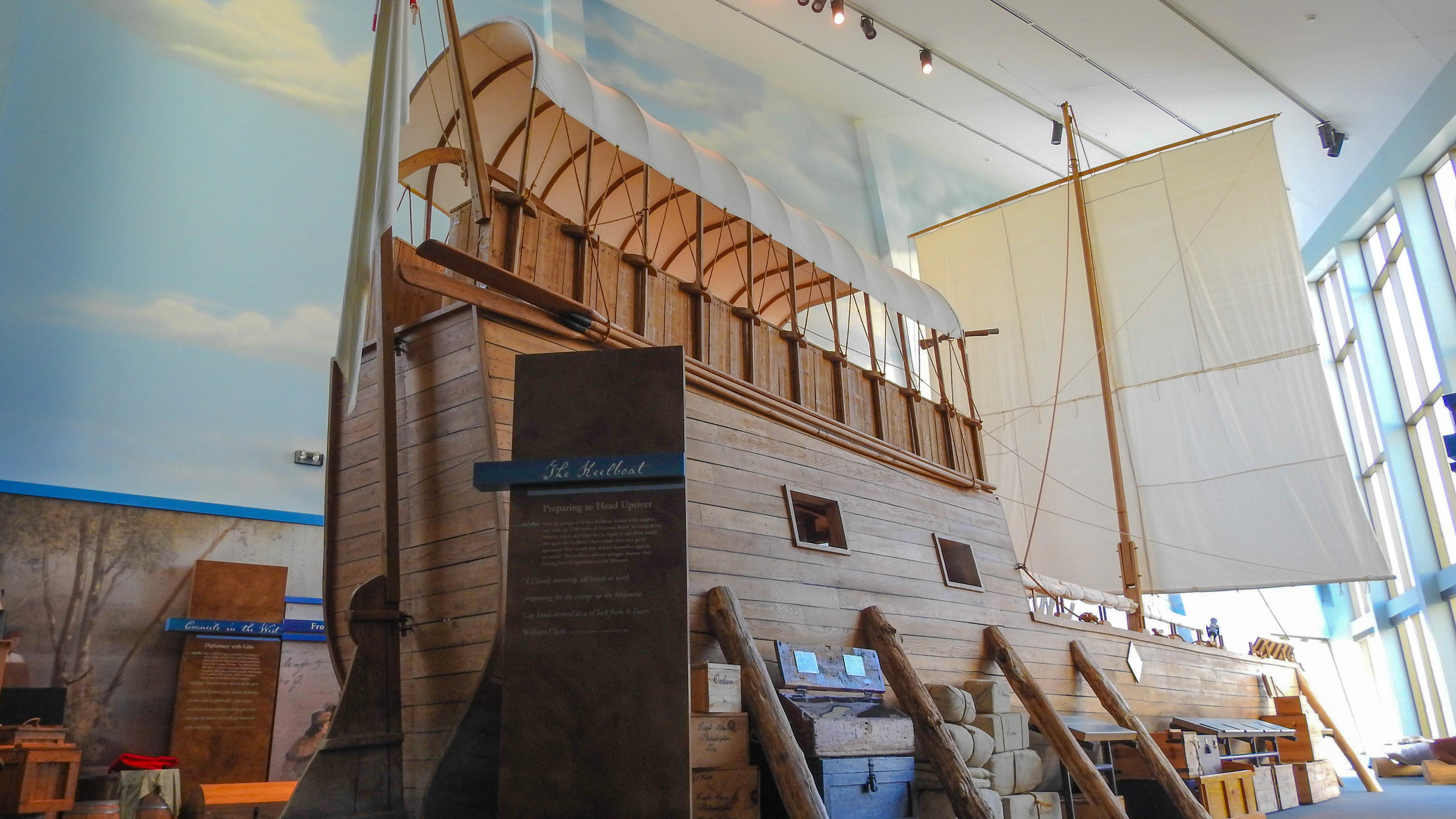 Keelboat replica at Camp River Dubois Hartford, Illinois