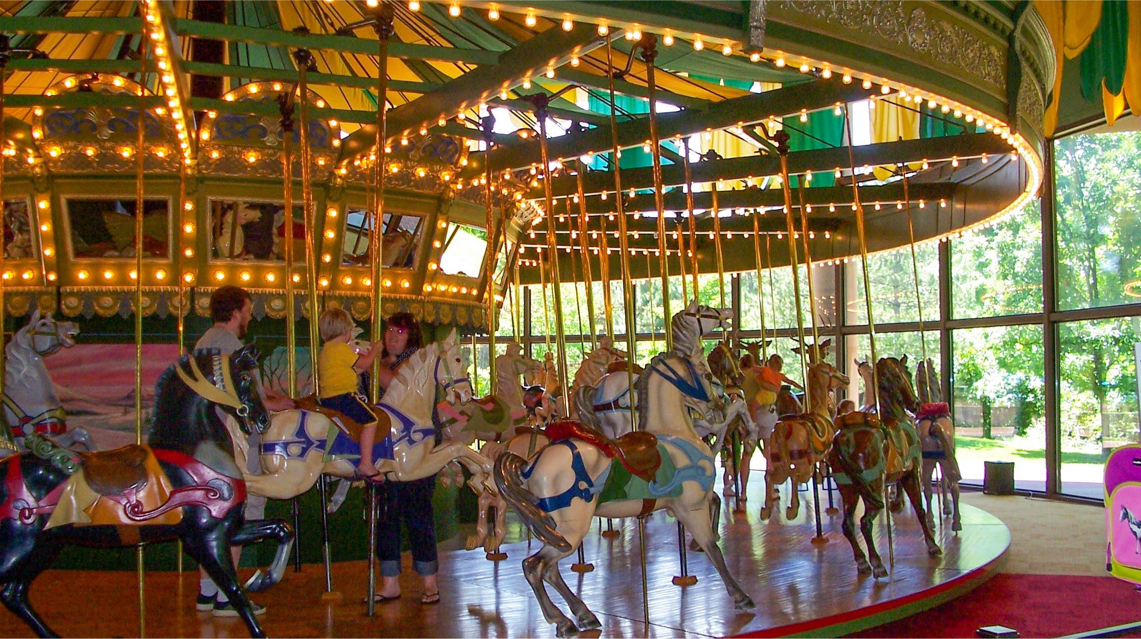 The Saint Louis Carousel in Faust Park, Chesterfield, Missouri