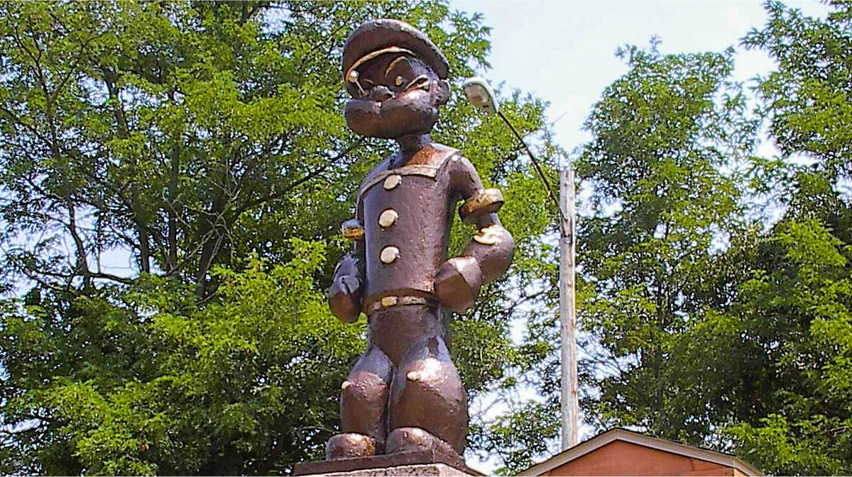 Popeye Statue Chester, Illinois
