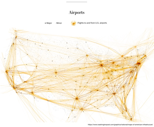 Six Maps that Show America's Infrastructure: Airports