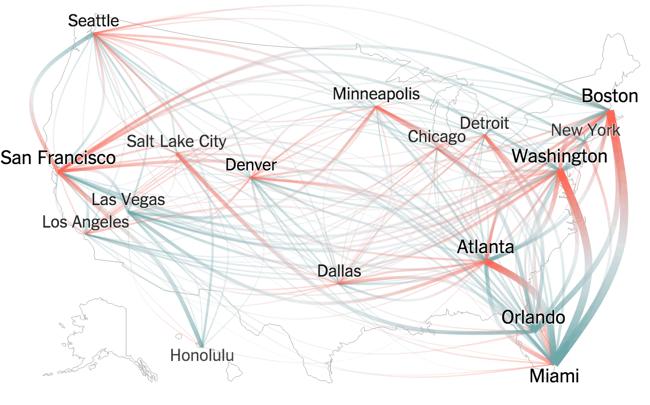 Thanksgiving Flight Patterns infographic