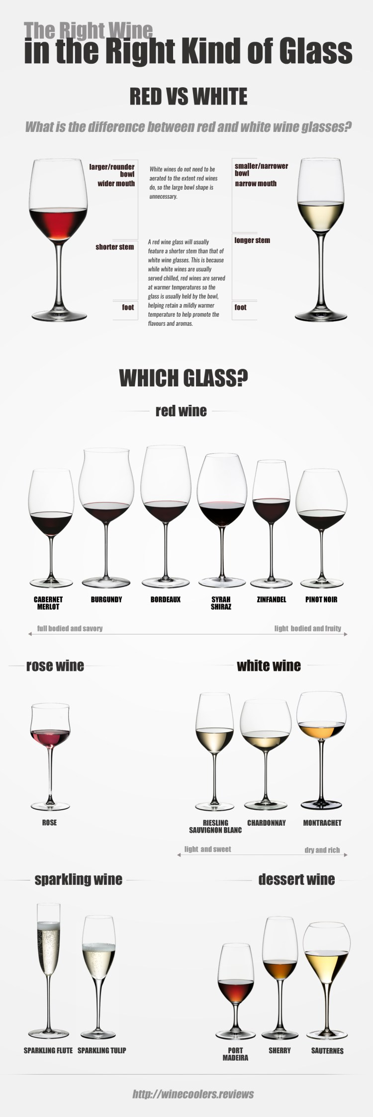 The Right Wine in the Right Kind of Glass  infographic