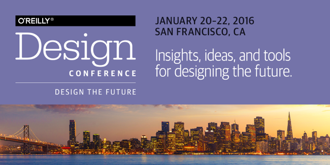 Giveaway: One O'Reilly Design Conference Pass