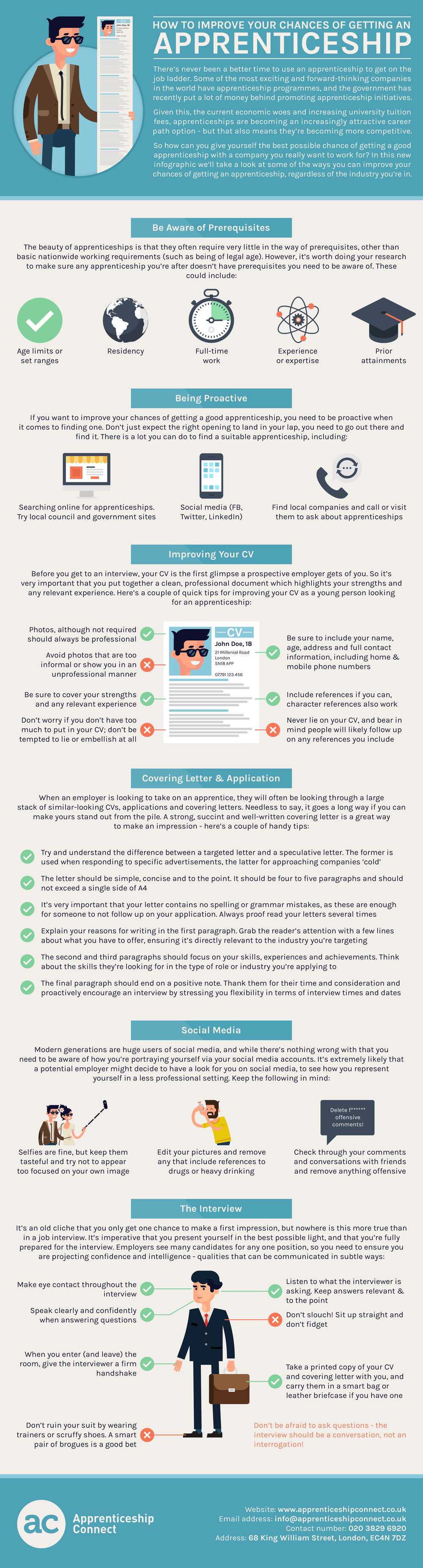 How to Improve Your Chances of Getting an Apprenticeship infographic