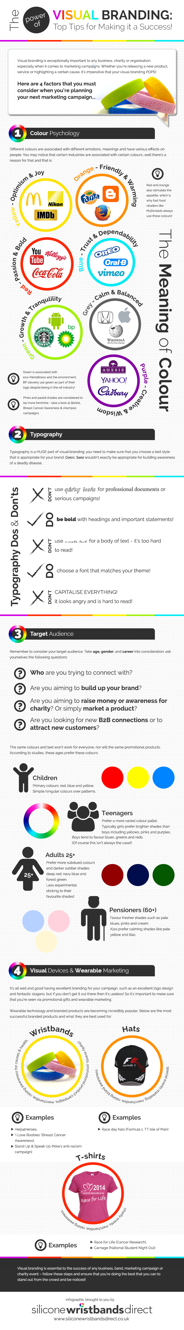 The Power of Visual Branding infographic
