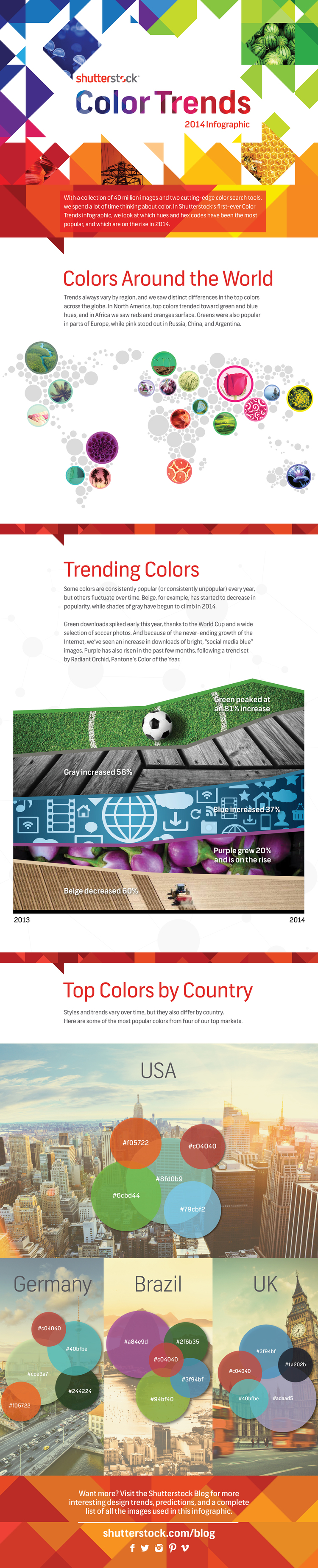 The Top Color Trends of 2014 infographic