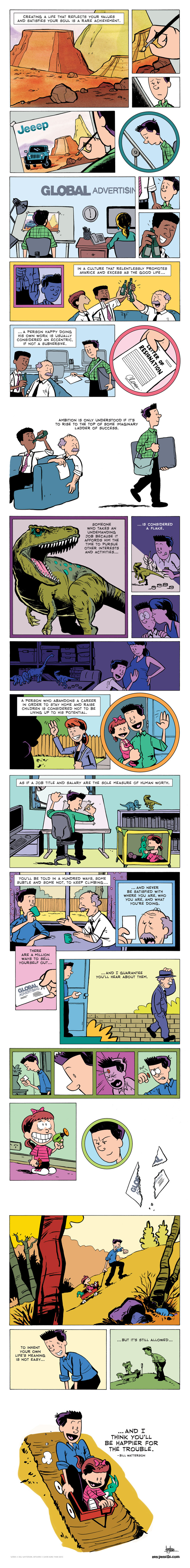 Comic Tribute to Bill Watterson (Calvin & Hobbes) infographic