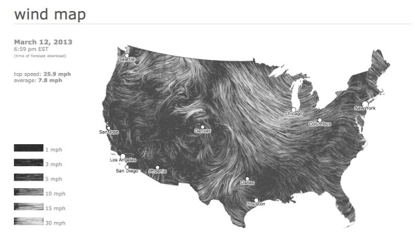 Beautiful Animated Wind Maps infographic