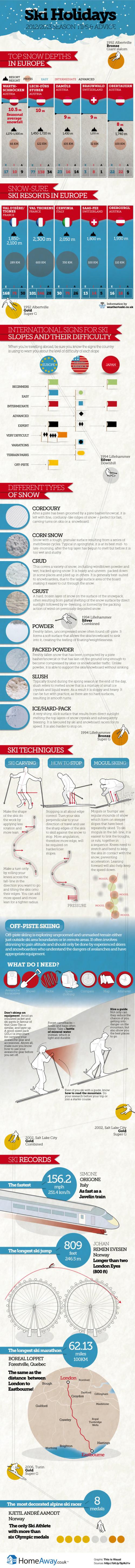 Ski Holidays 2013 infographic