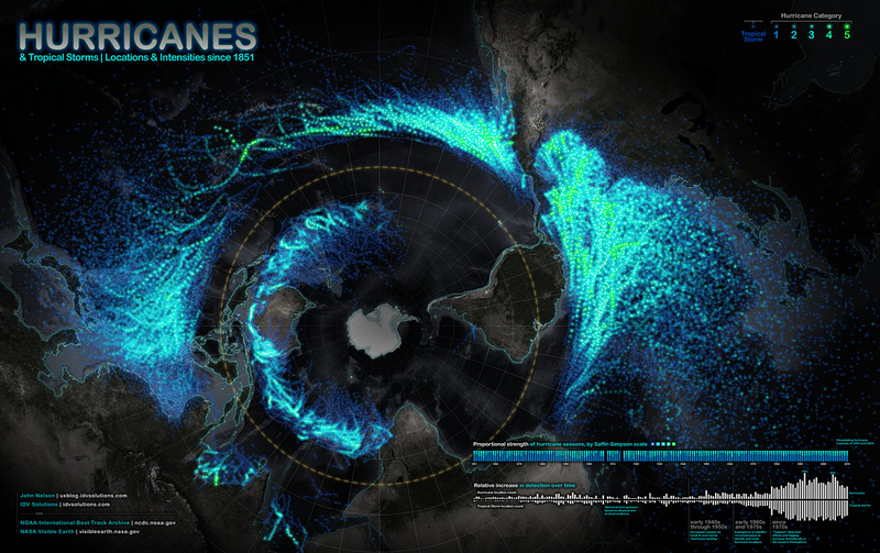 Hurricanes Since 1851 infographic