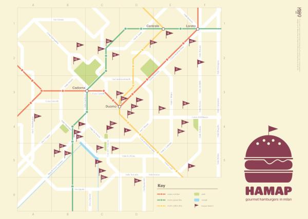 HAMAP Gourmet Burgers in Milan infographic
