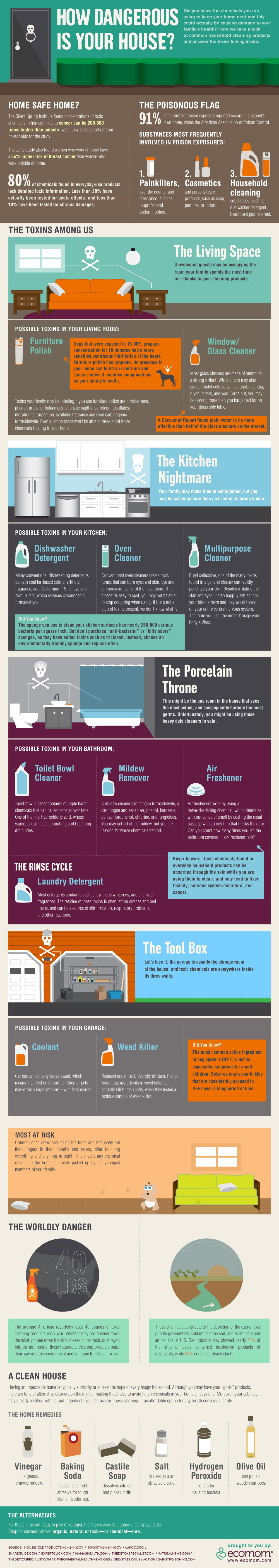 How Dangerous Is Your House? infographic