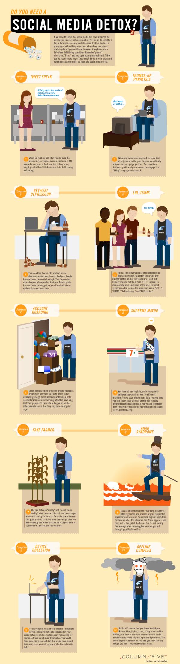 Do You Need a Social Media Detox? infographic