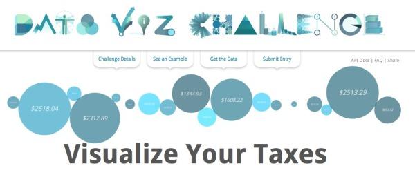 Google Data Viz Challenge: Visualize Your Taxes