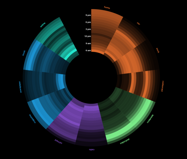 Visualizing Daily Activities With Media Wheel