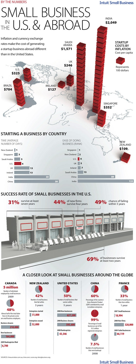 Small Business: By The Numbers infographic