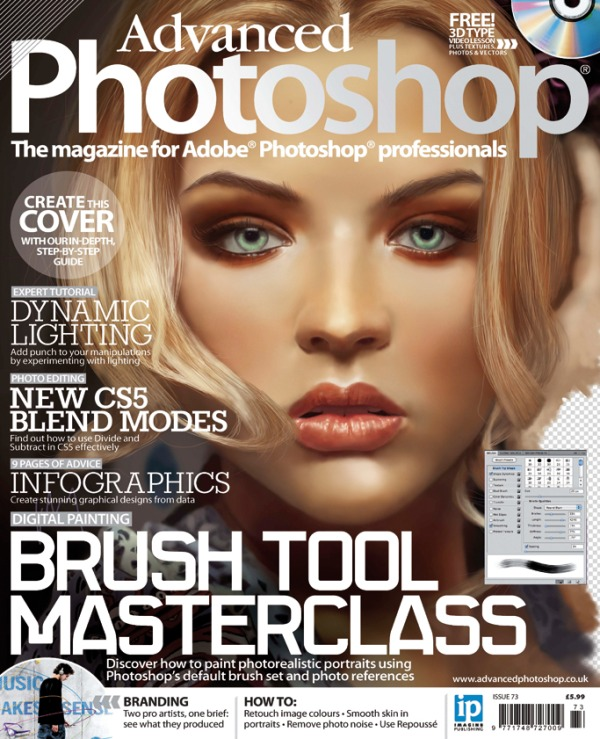 Infographics Feature: Advanced Photoshop Mag