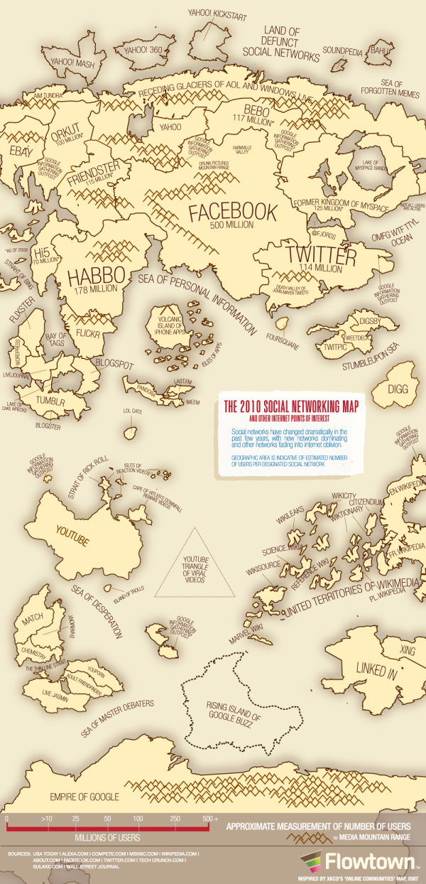 The 2010 Social Networking Map