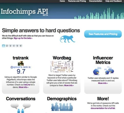 InfoChimps Data API BETA program launched!