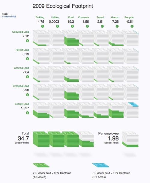 Ecological Footprint from Digital Eskimo infographic
