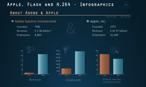 Apple, Adobe Flash and H.264 - an infographic explanation
