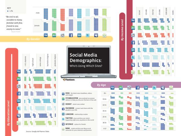 Social Media Demographics - infographic
