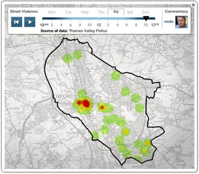 Oxford Crime Heatmaps from the BBC